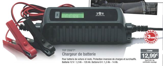 Chargeur batterie aldi